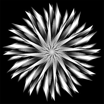 Back And White Mandala 4 by Gypsykiss