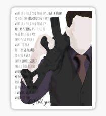 Ianto Jones - Song quote Sticker