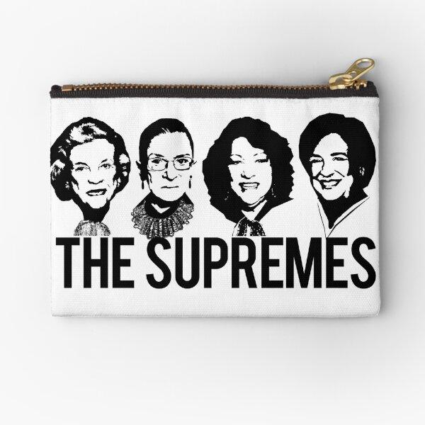 THE SUPREMES Supreme Court RBG Sotomayor Kagan Meme  Zipper Pouch