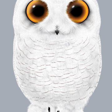 Big-Eyed Snowy Owl by SigneNordin