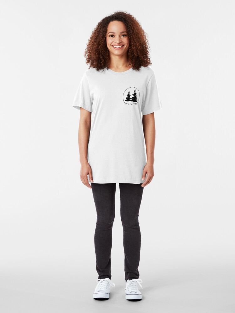Alternate view of Happy Little Trees Slim Fit T-Shirt