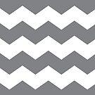 Gray and White Chevron Print by itsjensworld