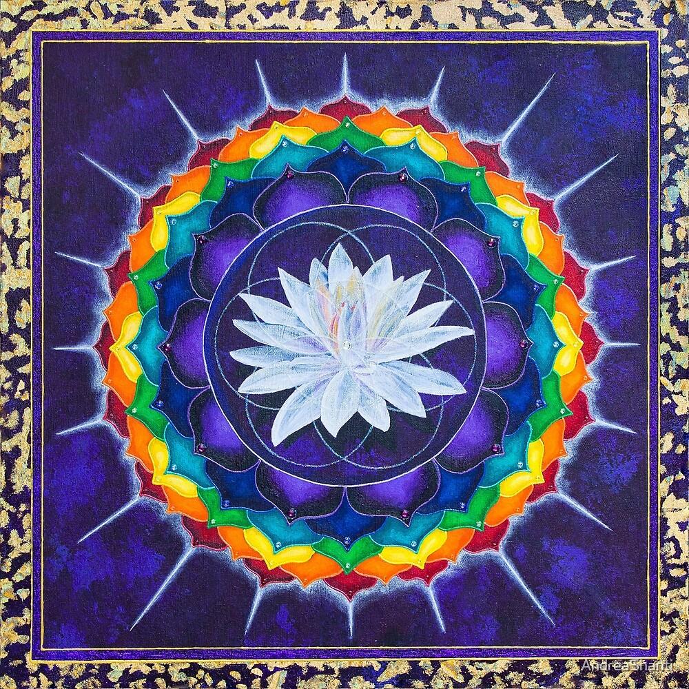 Sahasrara Crown Chakra Mandala by AndreaShanti