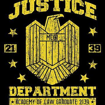 Dredd Justice Department - Judge Dredd by SteamerTees