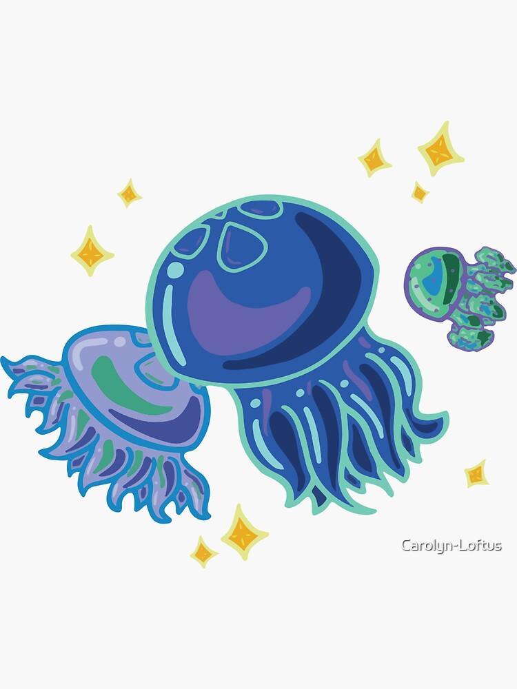 Blue Jellies by Carolyn-Loftus