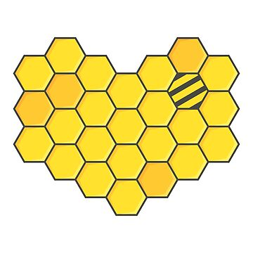 Honeycomb and Bee by animinimal