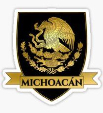 Black Michoacan Mexico Crest  Sticker