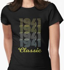 Born 1941 vintage Women's Fitted T-Shirt