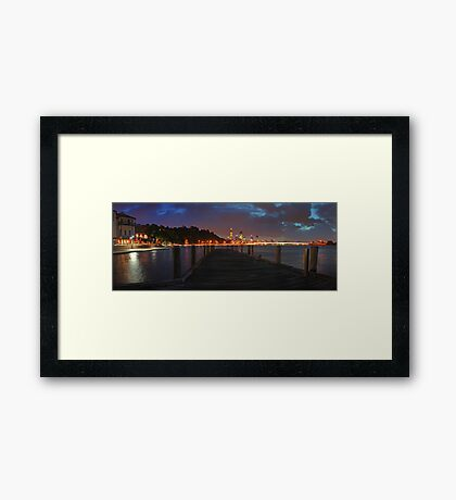 Old Swan Brewery Jetty At Dawn Before The Storm  Framed Print