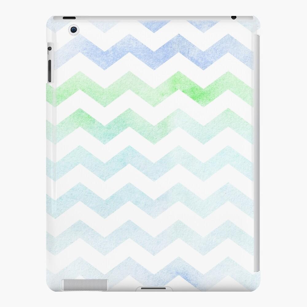 Watercolor Chevron Pattern. Funda y vinilo para iPad