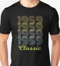 Born in 1959 vintage Unisex T-Shirt