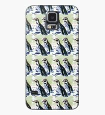 Painterly penguin pattern 2 Case/Skin for Samsung Galaxy