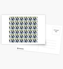 Painterly penguin pattern 2 Postcards