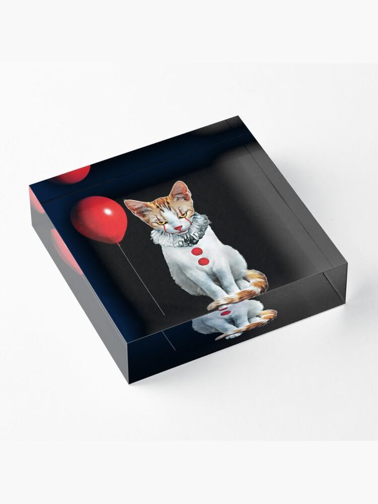 Alternate view of Cat Clown Kitten Acrylic Block