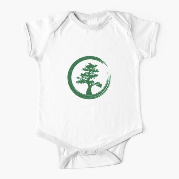 Zen Bonsai Tree in Enso Circle-1 Toddler Baby Boy Bodysuits One Piece Baby Clothes