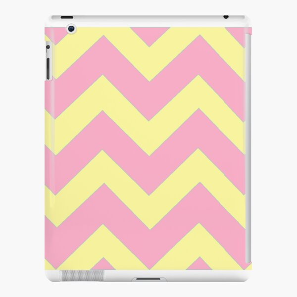 Chevron duo -pink, yellow iPad Snap Case