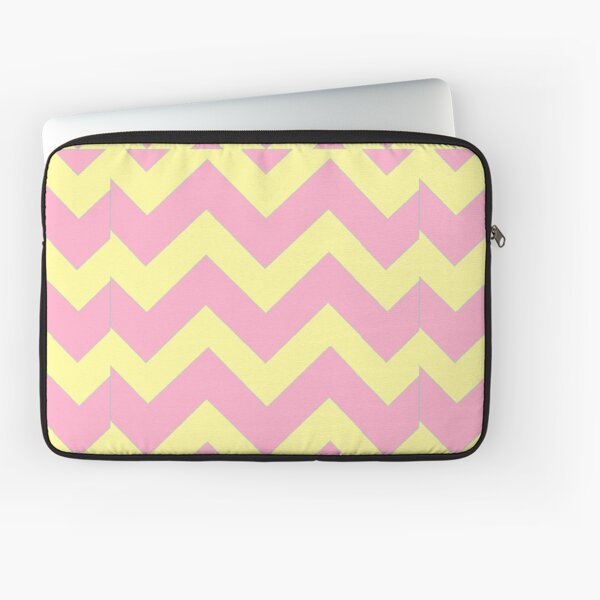 Chevron duo -pink, yellow Laptop Sleeve