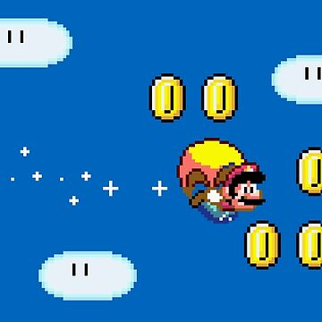 Mario Flying  by idaspark