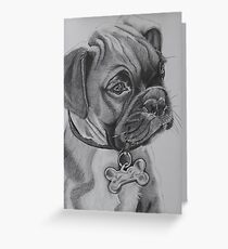 Black and white puppy Greeting Card