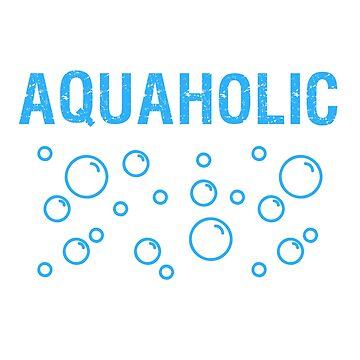 Aquaholic - Beach - Fishing - Beach Shirt by SterlingTales