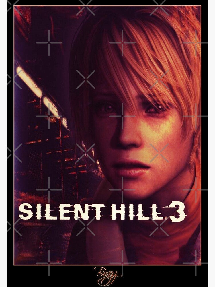 Silent Hill 3 Box Art Cover Original Version Brazz Art Print By Lilflipjimmy Redbubble