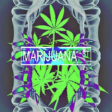 Marijuana Street Smokey by asphaltimages