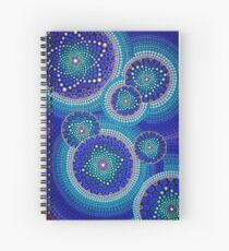 Blue Seeds Of Life Bubbles - Art&Deco By Natasha Spiral Notebook
