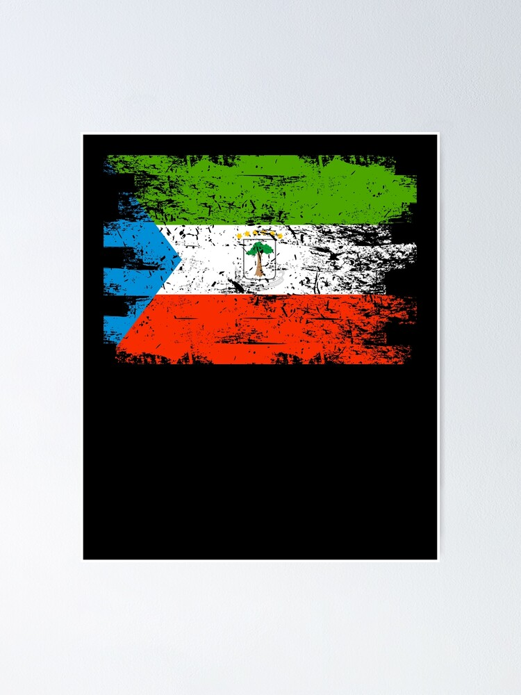 Equatorial Guinea Shirt Gift Country Flag Patriotic Travel Africa Light Poster By Threadsmonkey Redbubble
