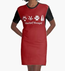 Mischief Managed Graphic T-Shirt Dress