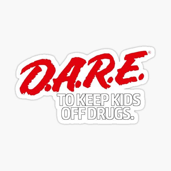 Dare Shirt - D.A.R.E. (Dare) Vintage 90's Logo Shirt Sticker