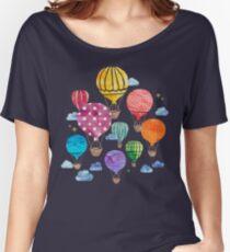Hot Air Balloon Night Women's Relaxed Fit T-Shirt