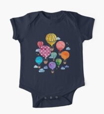 Hot Air Balloon Night One Piece - Short Sleeve