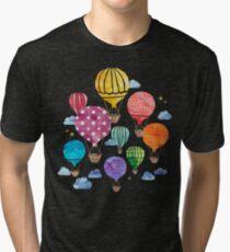 Hot Air Balloon Night Tri-blend T-Shirt