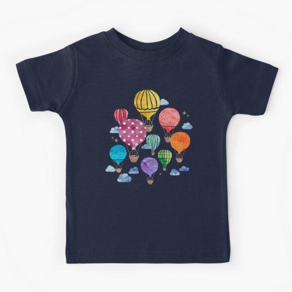 Hot Air Balloon Night Kids T-Shirt