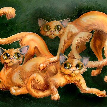 three cats by ellemrcs