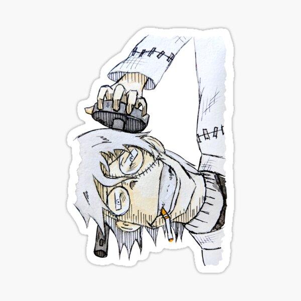 Inktober Day 23: Dr. Stein, Soul Eater, Death Scythe  Sticker