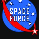Space Force Logo Red White And Blue by theartofvikki