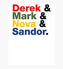 Derek & Mark & Nova & Sandor (Multicolor) Photographic Print