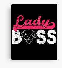 Lady Boss Leinwanddruck