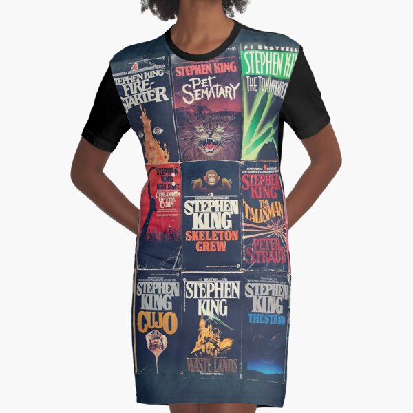 Stephen King Book Fronts Graphic T-Shirt Dress