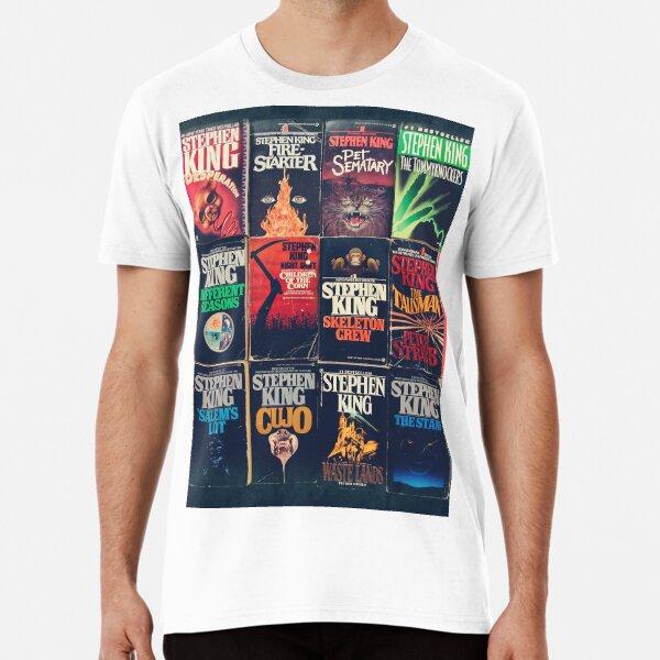 Stephen King Book Fronts Premium T-Shirt