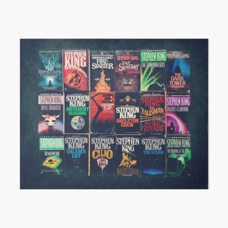 Stephen King Book Fronts Art Board Print