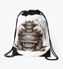 Samurai Panda Drawstring Bag