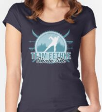 Team Fethke Skate Ski Fitted Scoop T-Shirt