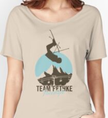 Team Fethke: Freestyle (Brown/Blue) Relaxed Fit T-Shirt