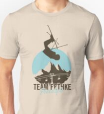 Team Fethke: Freestyle (Brown/Blue) Slim Fit T-Shirt