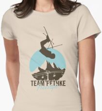 Team Fethke: Freestyle (Brown/Blue) Fitted T-Shirt