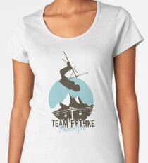 Team Fethke: Freestyle (Brown/Blue) Premium Scoop T-Shirt