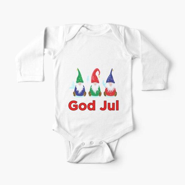 Dieu Jul Tomte Nisse Scandinave Joyeux Noël Gnomes Elfes Body manches longues