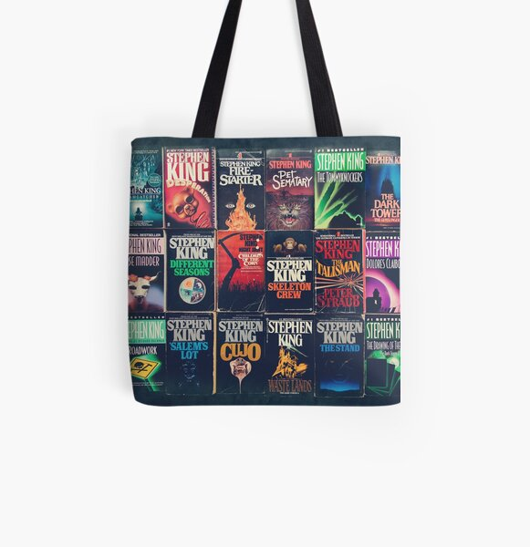 Stephen King Book Fronts All Over Print Tote Bag